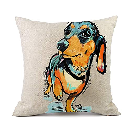 redland art cute dachshund dog pillow cover