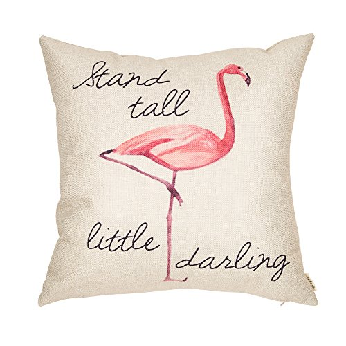 fjfz stand tall little darling flamingo throw pillow case