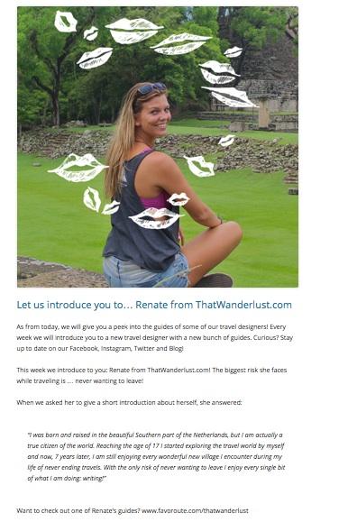 Favoroute, travel designer / July 2014