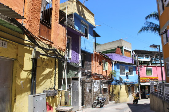 A colorful part of the Favela
