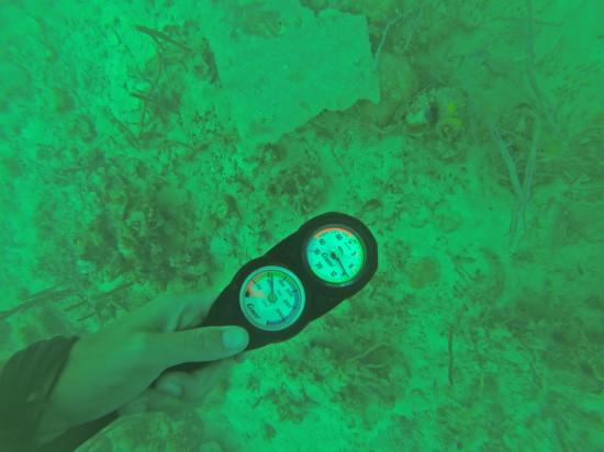 9 meters deep