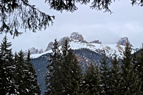 mountain postcard in canazei