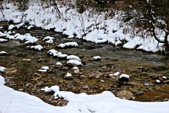 another snowy river in canazei