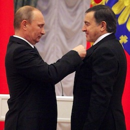Vladimir Putin awards Aras Agalarov the Russian Order of Honor