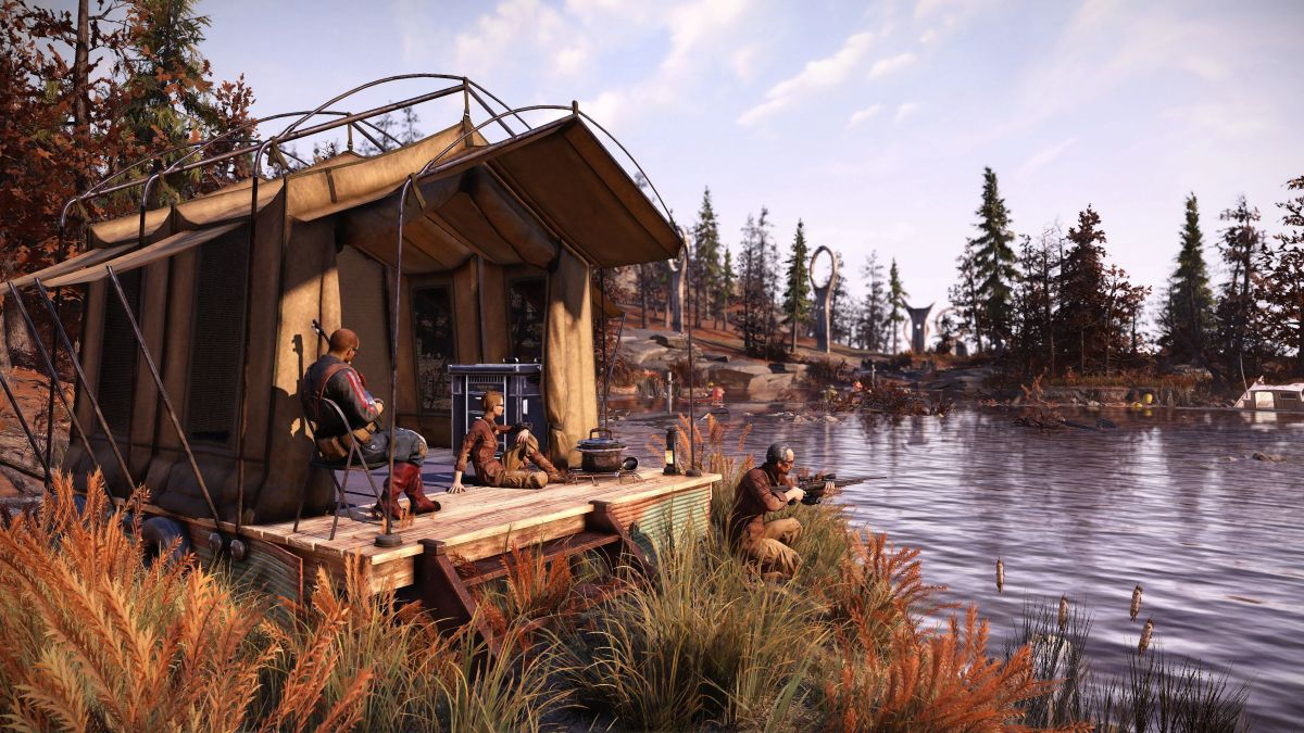 Fallout 76's Locked & Loaded update will let you have multiple camps and loadouts A camp by the water 1