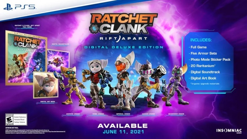 Insomniac Shares First Look At Ratchet & Clank: Rift Apart Digital Deluxe-Exclusive Armor Sets 1