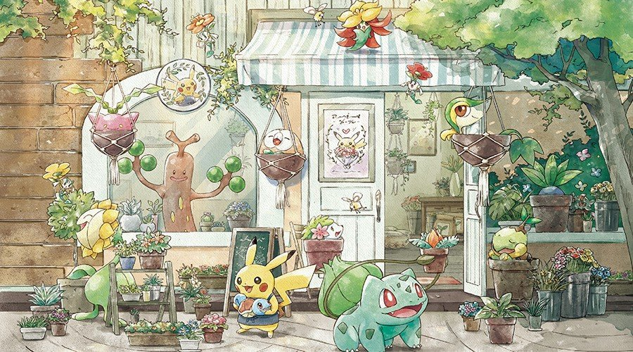 This Incredibly Cute 'Pokémon Grassy Gardening' Collection Combines Pokémon And Horticulture 1