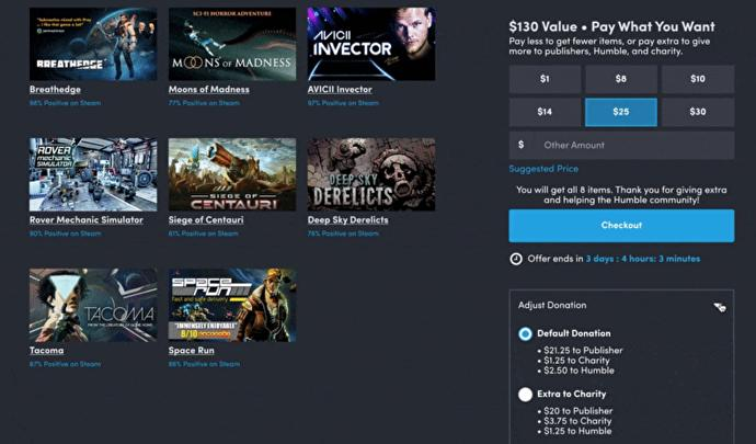 Humble Bundle reinstating charitable donation sliders following outcry over removal 1