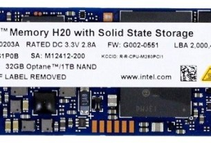Intel H20 SSD, Optane In The Front, NAND In The Back 3