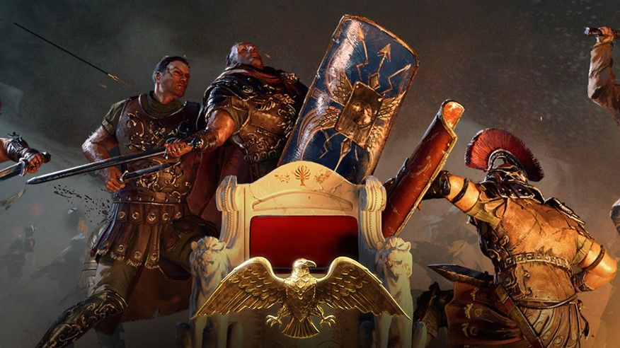 Paradox ceases work on Imperator: Rome temporarily, won't release anything for it this year An art image from video game Imperator: Rome of ancient warriors fighting over a throne 1