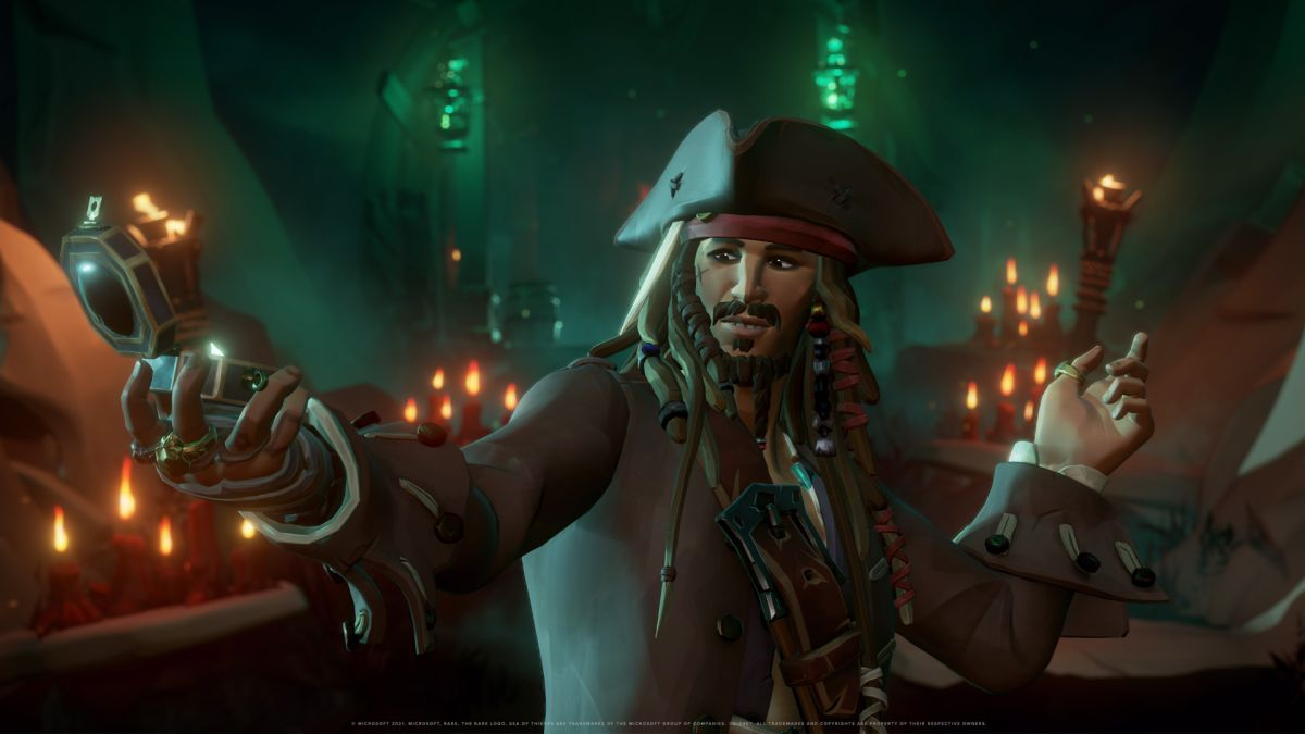 See Jack Sparrow in action in a new Sea of Thieves gameplay video Captain Jack Sparrow in Sea of Thieves 7
