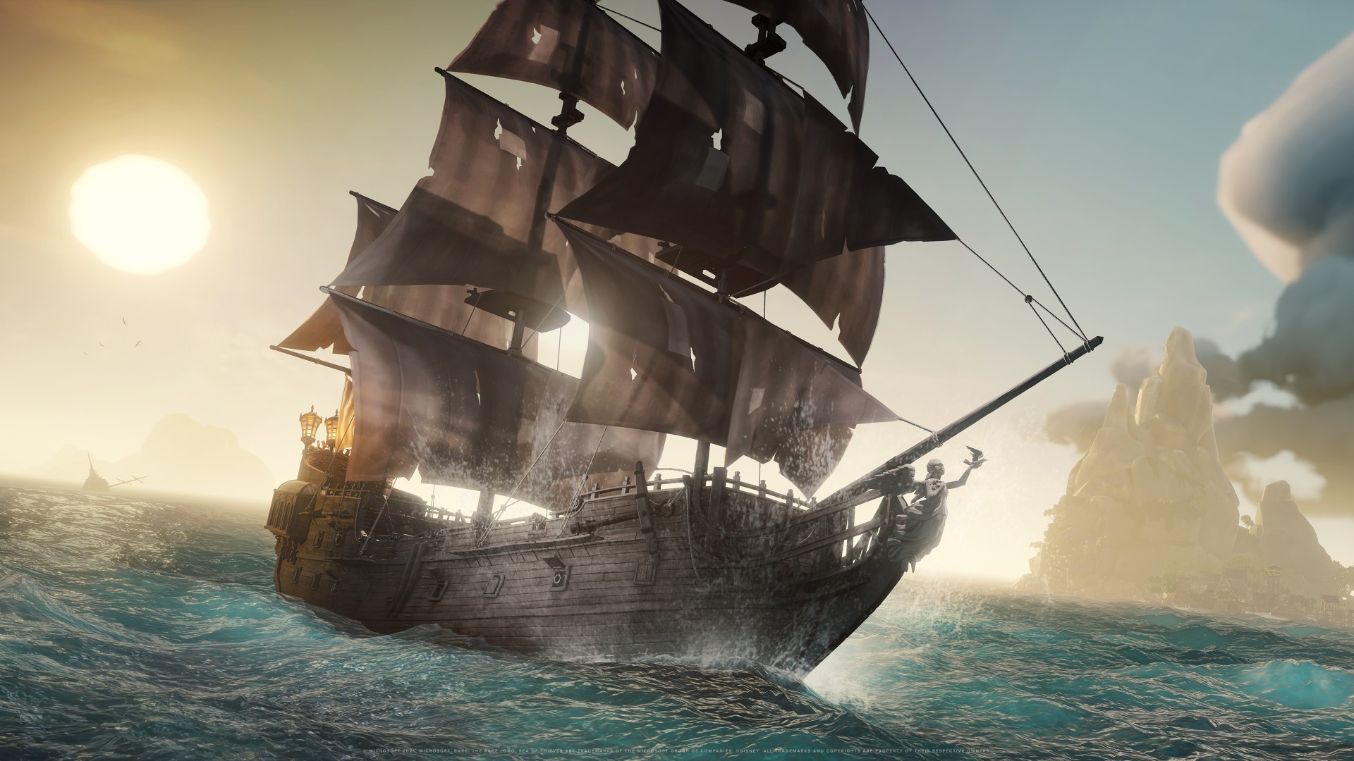 See the Ultimate Pirate Crossover in Sea of Thieves: A Pirate's Life Gameplay Footage 1