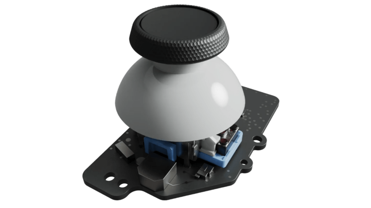 """Valve has done """"a ton"""" to avoid stick drift, increase reliability on Steam Deck A mockup image from marketing material for the Steam Deck handheld PC, depicting the inner workings of a thumbstick. 1"""