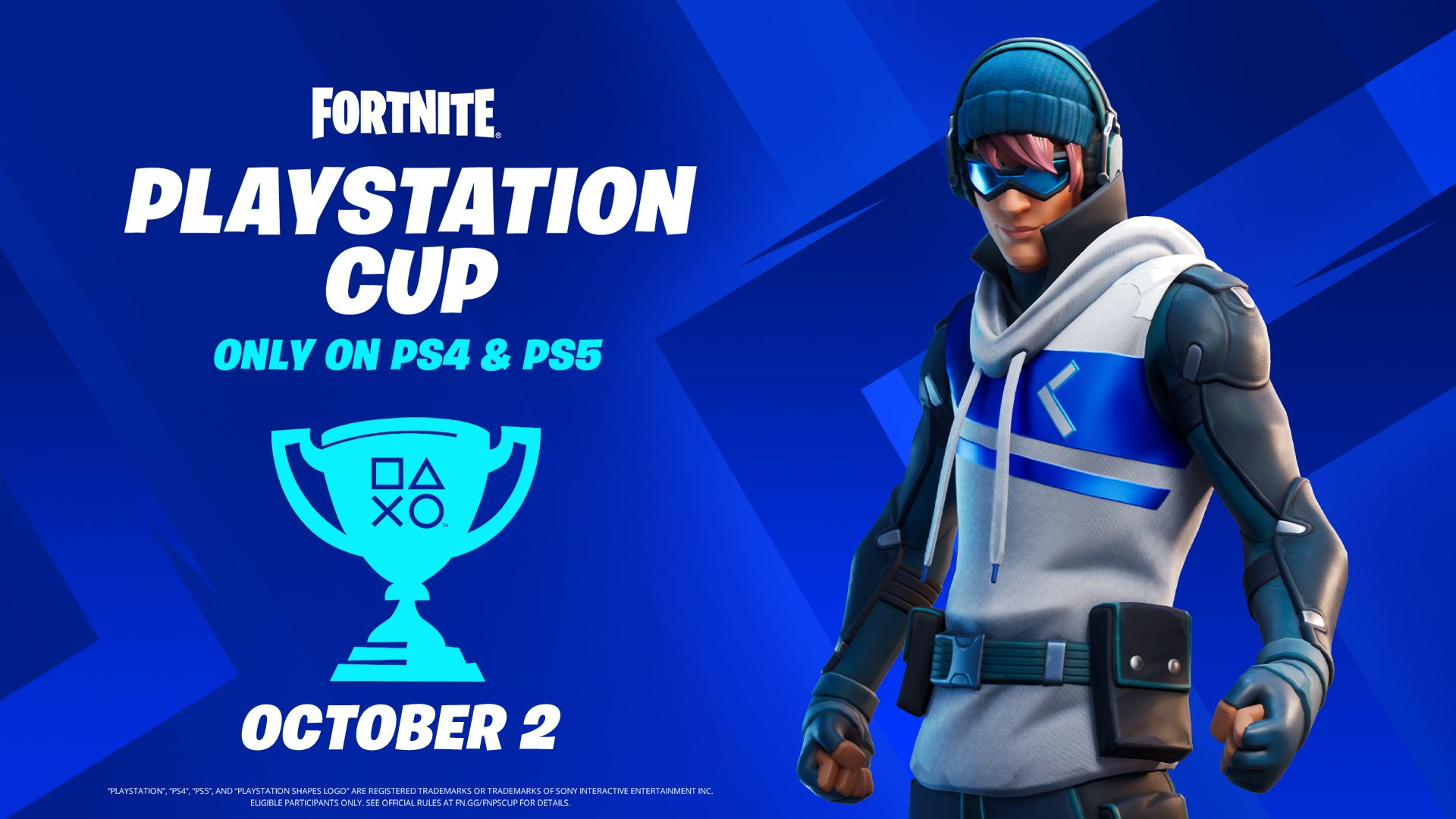Compete in the Fortnite PlayStation Cup for a piece of the $110,000 global prize pool 1