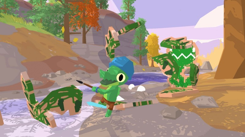 Explore A Cheerful Island Playground In Lil Gator Game 1
