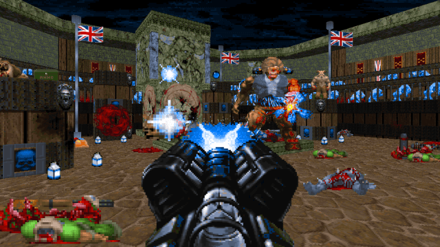 Hunt down a resurrected Maggie Thatcher in this frightfully British Doom campaign A screenshot of Thatcher's Techbase. 2
