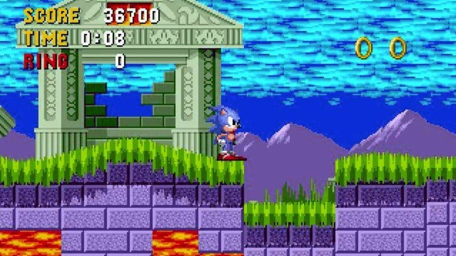 Random: Wait A Sec, That Sure Looks Like Mario In Sonic The Hedgehog's Marble Zone 1
