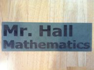 Laser cut number 2: a sign for my new classroom.