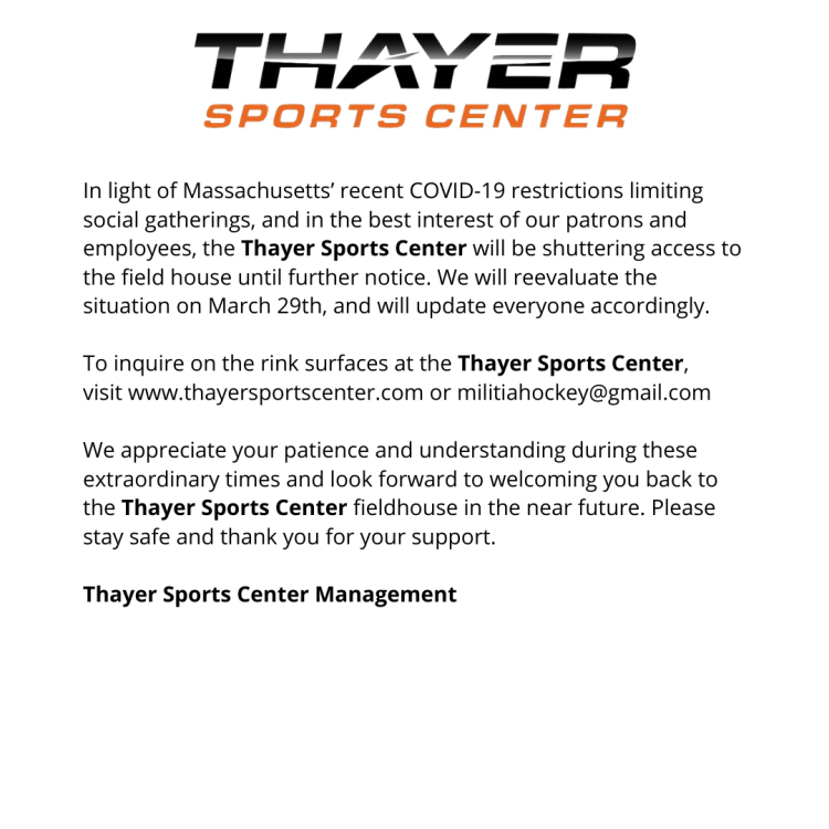 Thayer Sports Center - updated