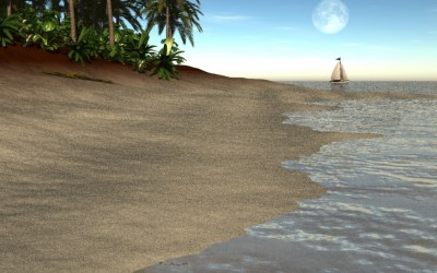 Virtual Creation: Painting the Beach