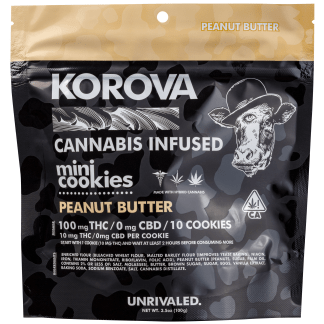 BAKED GOOD 100MG KOROVA PEANUT BUTTER COOKIES ALL