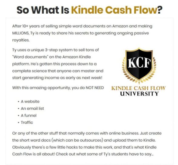 Kindle Cashflow University