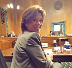 Cheryl DeMars in Senate Hearing Room