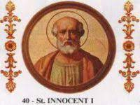 Saint of the Day Quote:  Pope Saint Innocent I