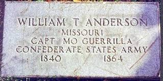 October 26, 1864:  Bloody Bill Anderson Killed
