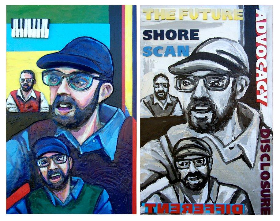 Artist Steve Selpal's rendition of Stephen Shore