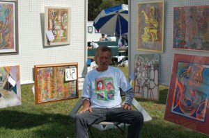 Rodger at the Mental Health Art Fair