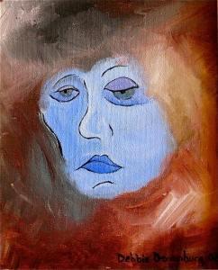 "Debbie Denenburg ""Blue Face"""