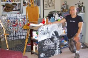 Ryan in his studio