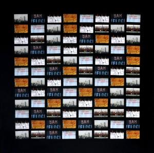 Gaelle S. Warner Librairie Tabac Journaux collage on canvas