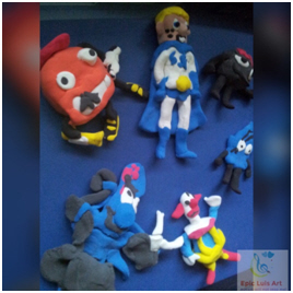 Luis Clay Superflex characters
