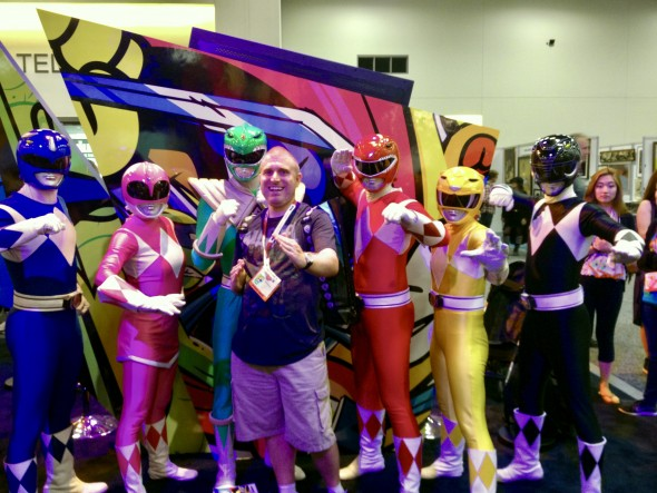Brent with Power Rangers