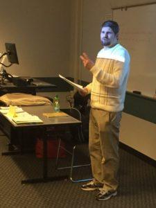 Ron Sandison speaking at EMU