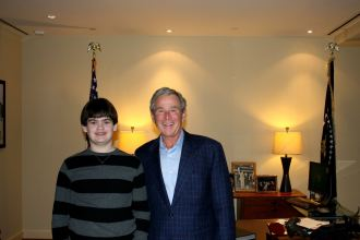 George Bush and Tyler Fournier