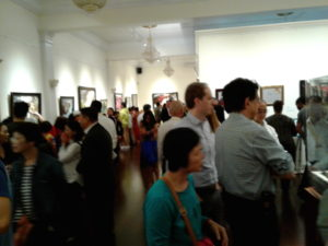 people enjoying art