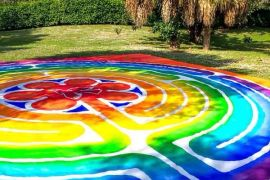 Steve Selpal's labrynth he created at his church