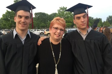 Karla Akins with her sons