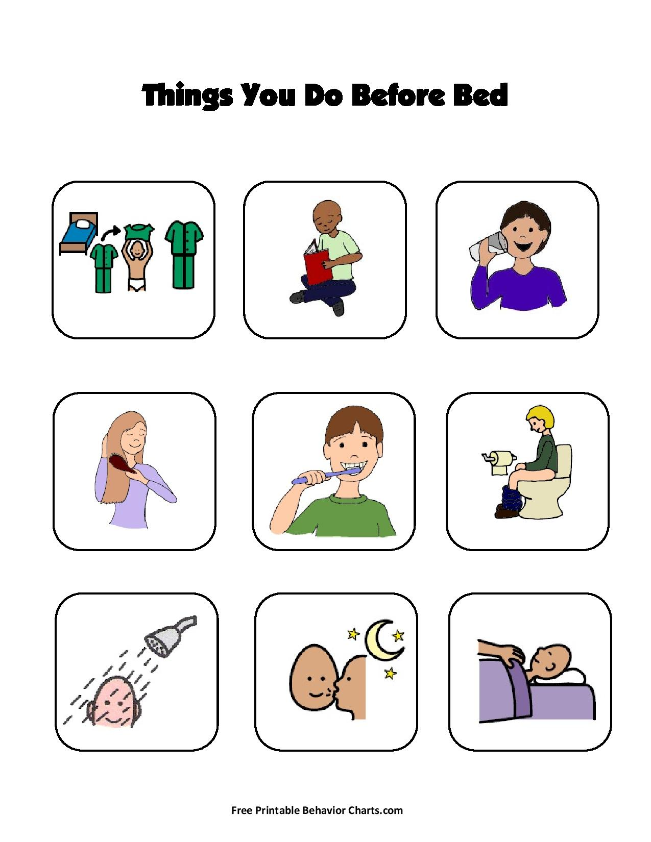 picture regarding Printable Social Story named A Handful of Rules for Far better Snooze for those people who are Autistic and their