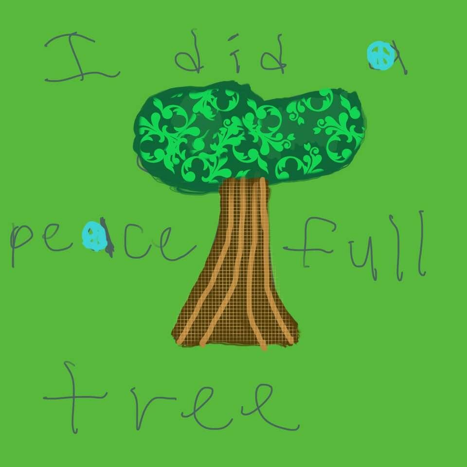 """David Idell """"Peace Tree"""""""