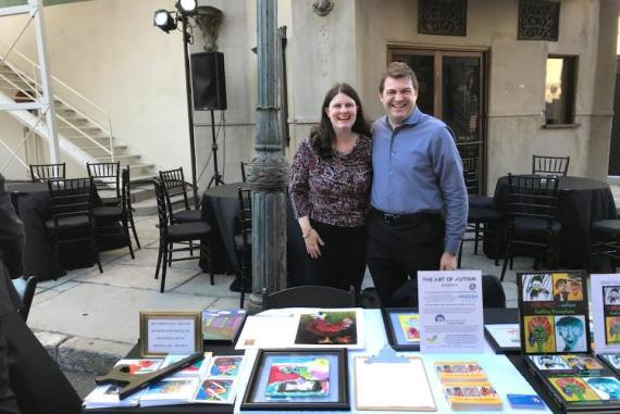 Art of Autism Board members Carly Fulgham and Tom Iland