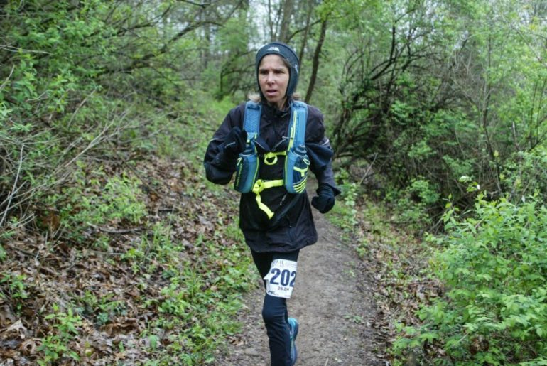 Tracey Running on Trail