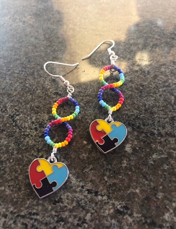 Baylie Nixon Puzzle Piece earrings