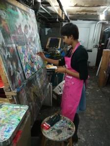 Mahlia painting