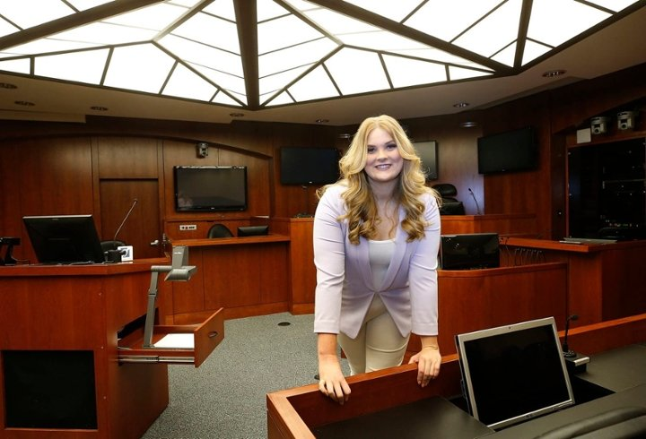 Hallie Hovey-Murray at law school