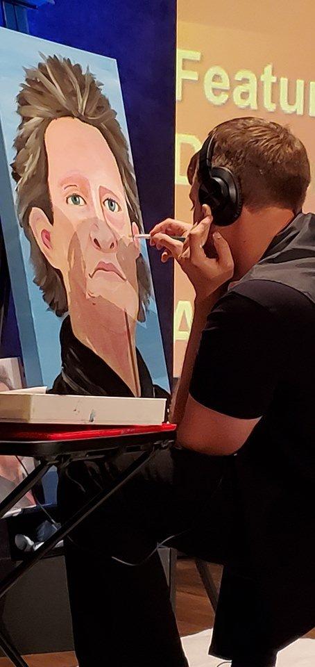 Joel Anderson painting Temple Grandin