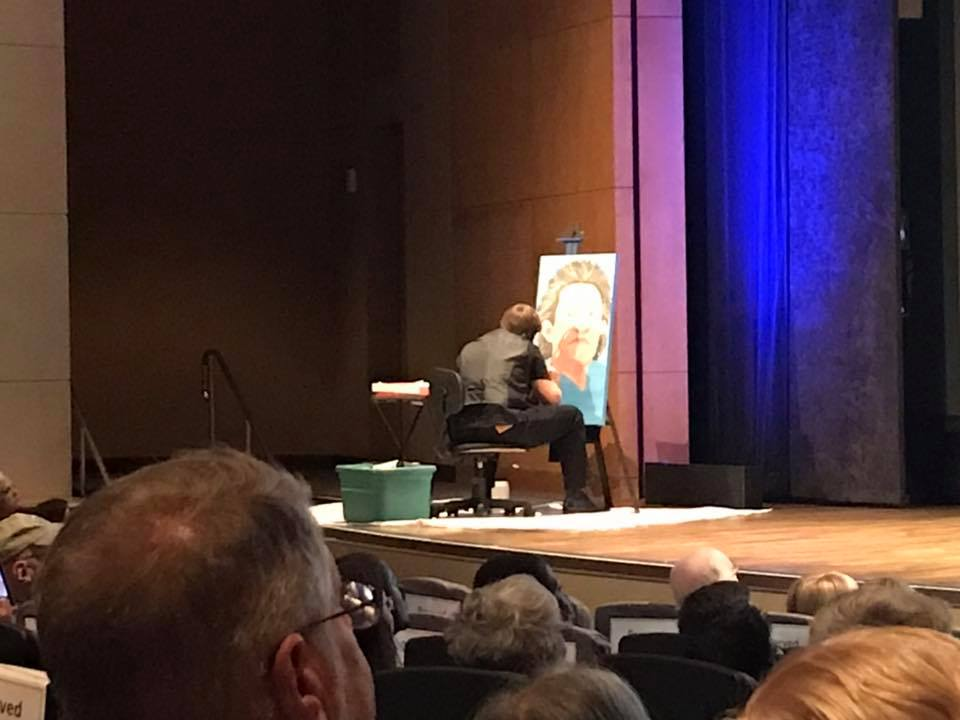 Joel Anderson live painting Temple Grandin